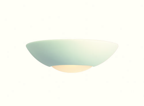 Firstlight C333UN Unglazed with Acid White Glass Ceramic Wall Light - 18w PLC